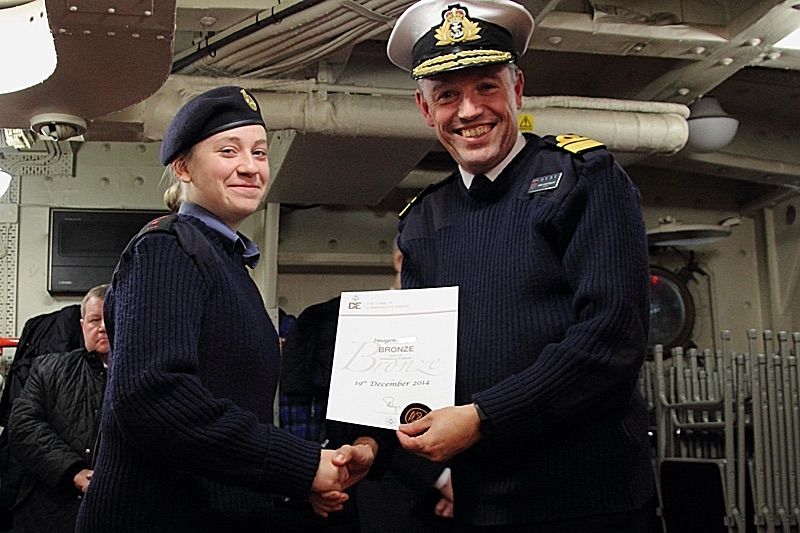 Cadet Imogen with Rear-Admiral John Kingwell