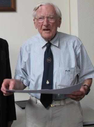 Hastings Bullock on the occasion of his 100th birthday
